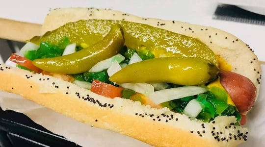 The Hot Dawg Hut's authentic Chicago dog