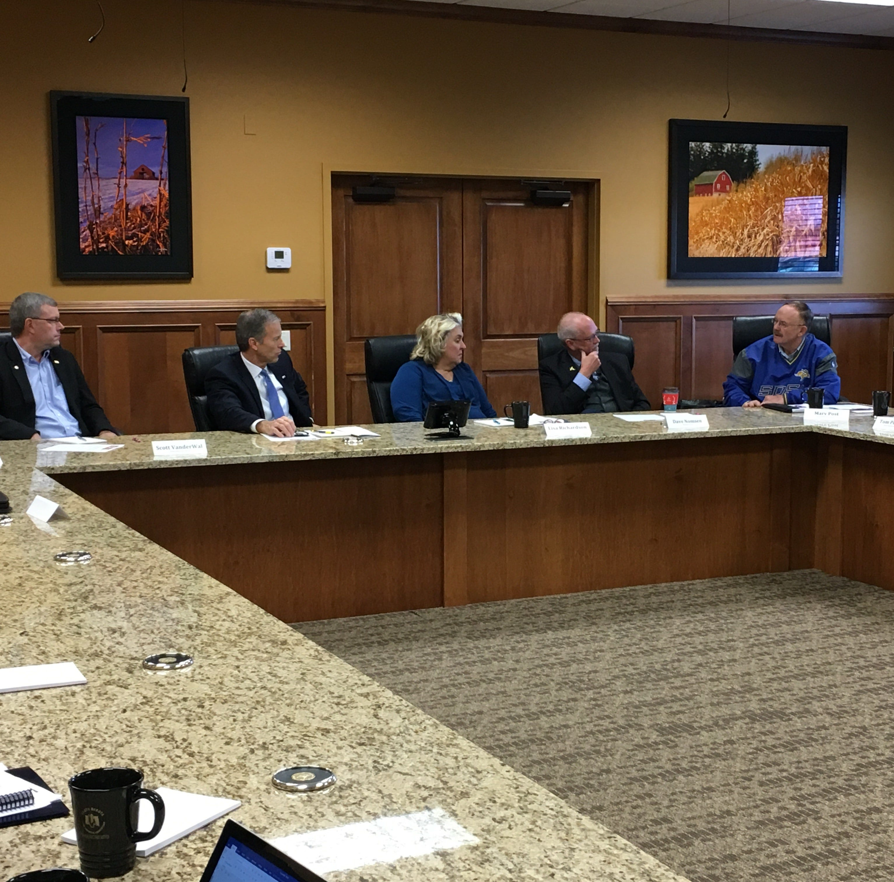 South Dakota agriculture leaders discussed tariffs and immigration with U.S. Sen. John Thune during a Friday morning roundtable in Sioux Falls.