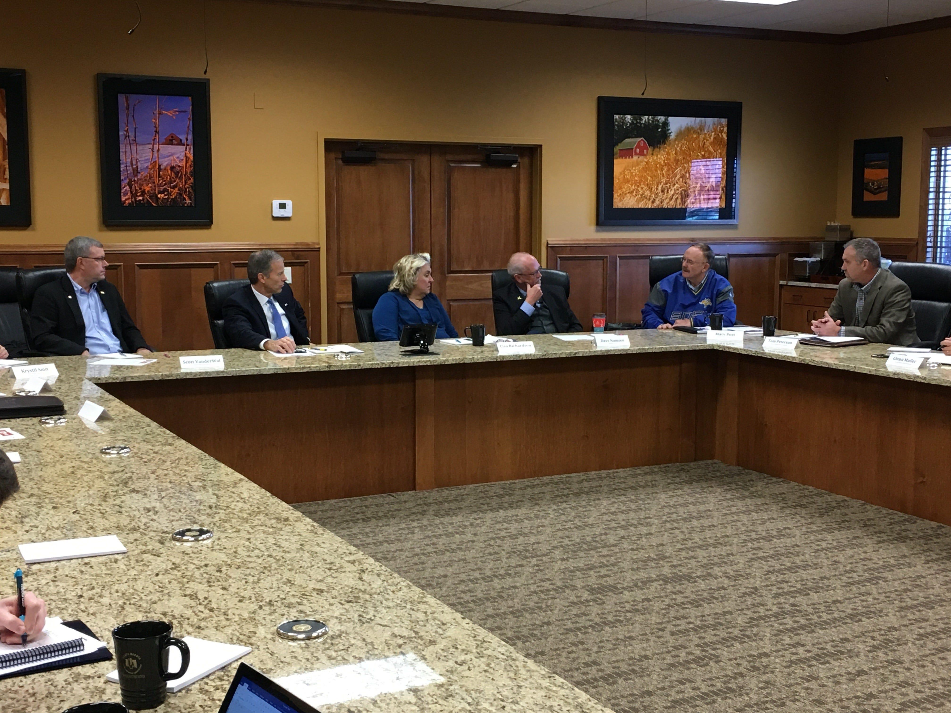 South Dakota agriculture leaders press Sen. John Thune on issues