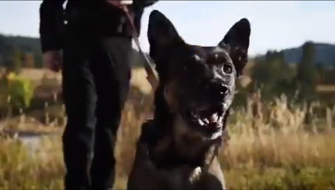 A screenshot from the South Dakota Highway Patrol's holiday commercial