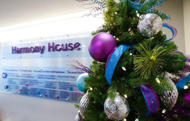 A Christmas tree at Harmony House on Thursday, Dec. 13, 2018.