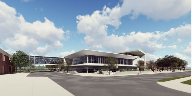 A rendering of the Center for Advanced Manufacturing, which Ozarks Technical Community College plans to build on its Springfield campus once funding has been secured.