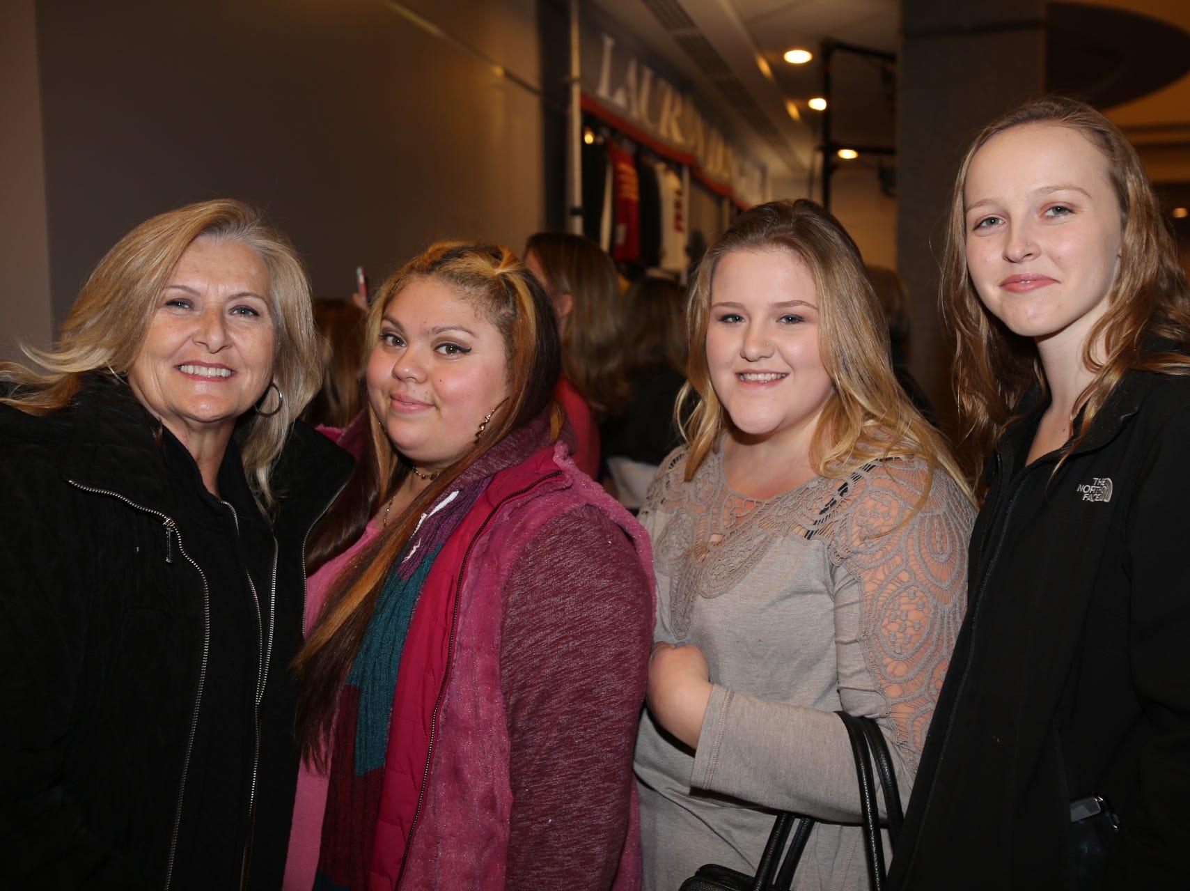 Sue Gunter, Crystal Carrillo, Elizabeth and Mikayla Bentz