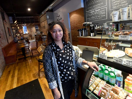 Mandisa Fullwood is the owner of The French Press in Waynesboro. She is photographed at her business on December 10, 2018.