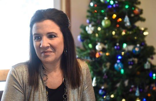 Development director Lana Kozak talks about recent support of Terebinth Refuge Thursday, Dec. 13, during an interview in Waite Park.
