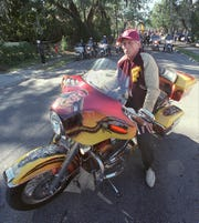 FSU President T.K. Wetherell gets ready to lead off the  Homecoming Parade Friday Nov. 14, 2003, in Tallahassee, Florida.