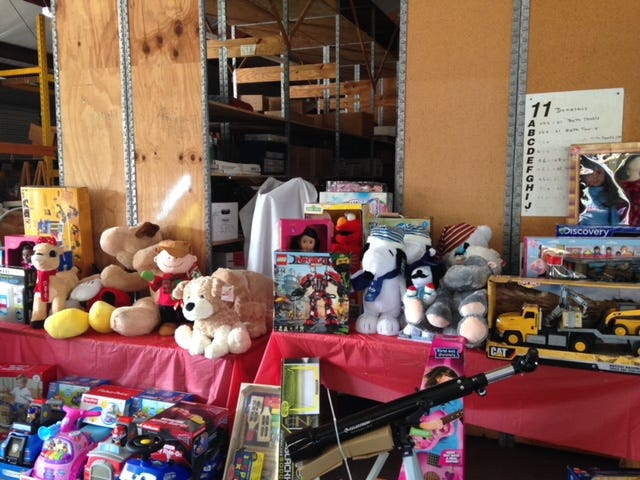 Toys are distributed to needy children by Operation Hope in Fellsmere.