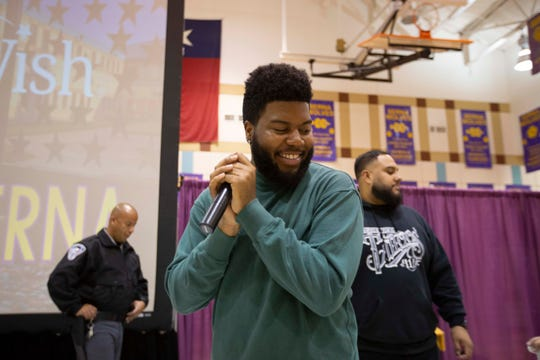 Superstar and El Pasoan Khalid visited Ernesto Serna School in December of last year gifts to students. Khalid graduated from Americas High School, also in the Socorro ISD, in 2016.