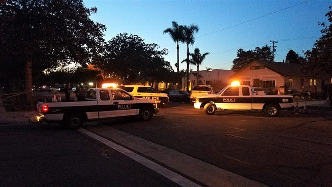 Oxnard police converged on the 300 block of Magnolia Avenue after a shooting that sent one man to a hospital.