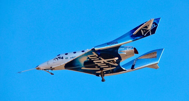 Virgin Galactic reached space for the first time during its fourth powered flight Thursday from Mojave.  The aircraft called VSS Unity reached 271,268 feet, the lower altitudes of space.