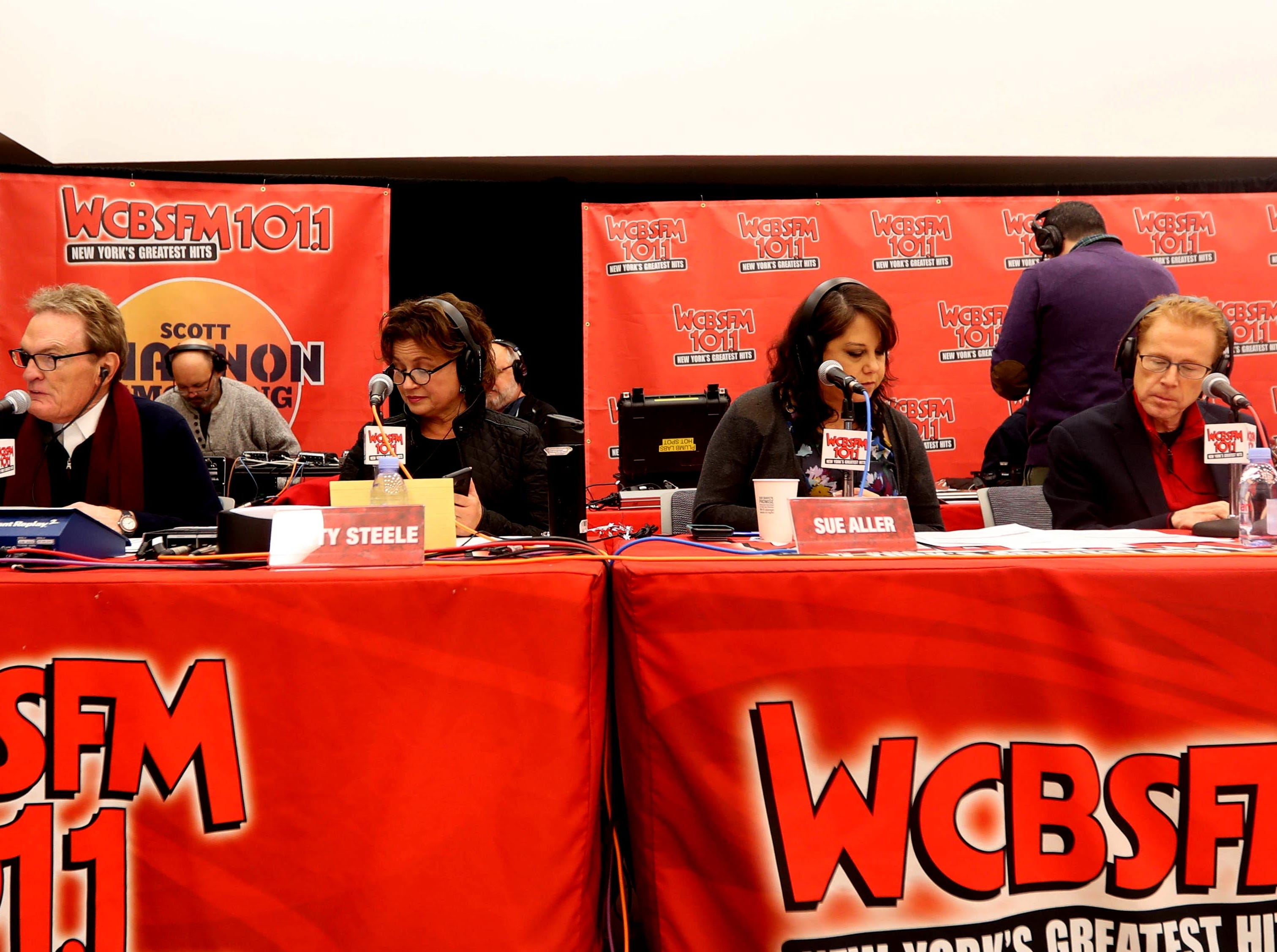 Scott Shannon, left, morning disc jockey with WCBS-FM, along with his on-air radio team, hosts the annual holiday show at Blythedale Children's Hospital in Valhalla Dec. 14, 2018. This year's show included performances by Rob Thomas of Matchbox Twenty, Mark Rivera, who is Billy Joel's longtime saxophonist, and Grammy nominated singer and songwriter Gavin DeGraw. The event included a live auction that featured autographed guitars by Jon Bon Jovi and Rob Thomas and tickets to a Billy Joel concert at Madison Square Garden.