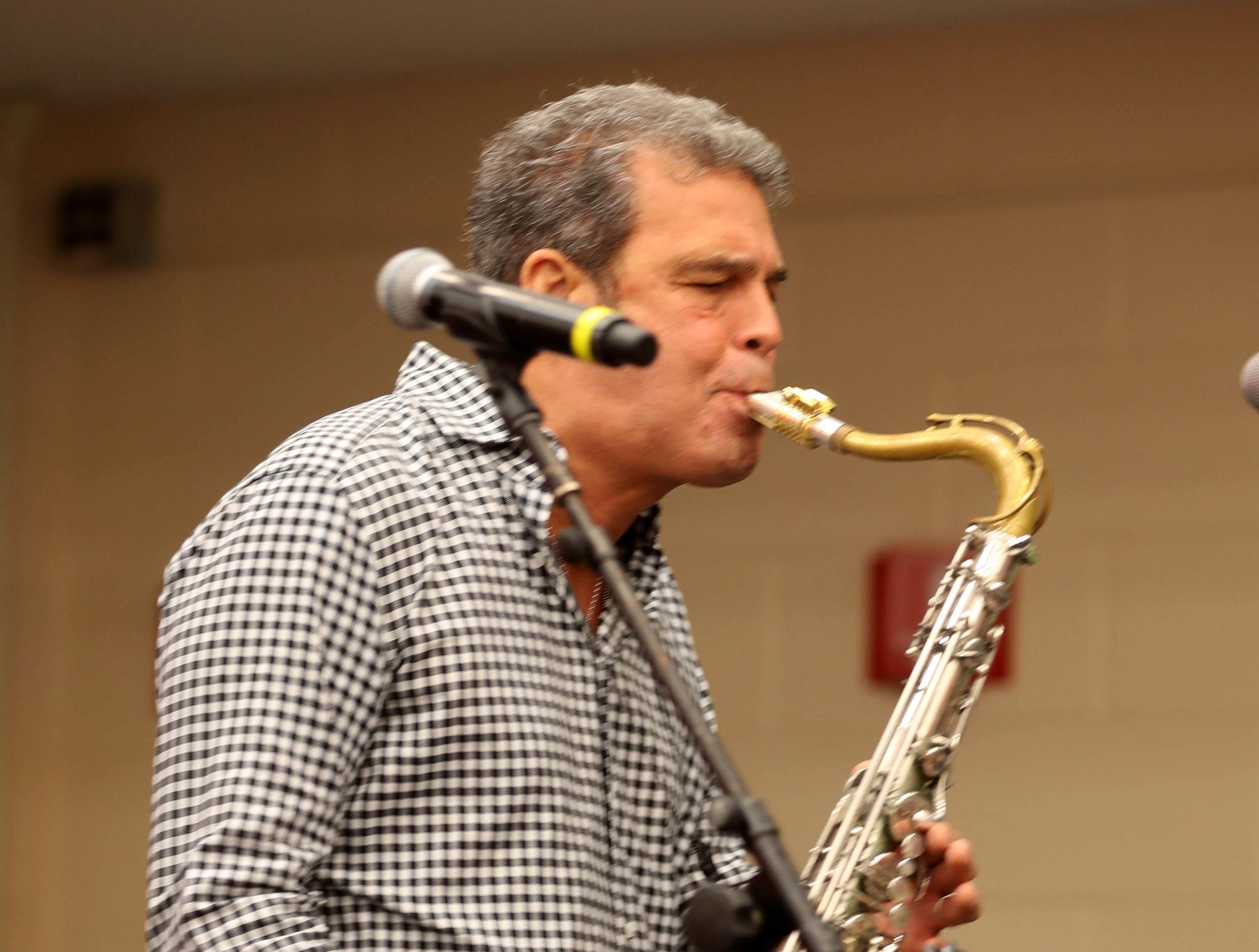Mark Rivera, Billy Joel's longtime saxophonist, performs during the annual holiday show at Blythedale Children's Hospital in Valhalla Dec. 14, 2018. Scott Shannon, morning disc jockey with WCBS-FM hosts the show every year. This year's show included performances by Rivera, Rob Thomas of Matchbox Twenty, and Grammy nominated singer and songwriter Gavin DeGraw. The event included a live auction that featured autographed guitars by Jon Bon Jovi and Rob Thomas and tickets to a Billy Joel concert at Madison Square Garden.