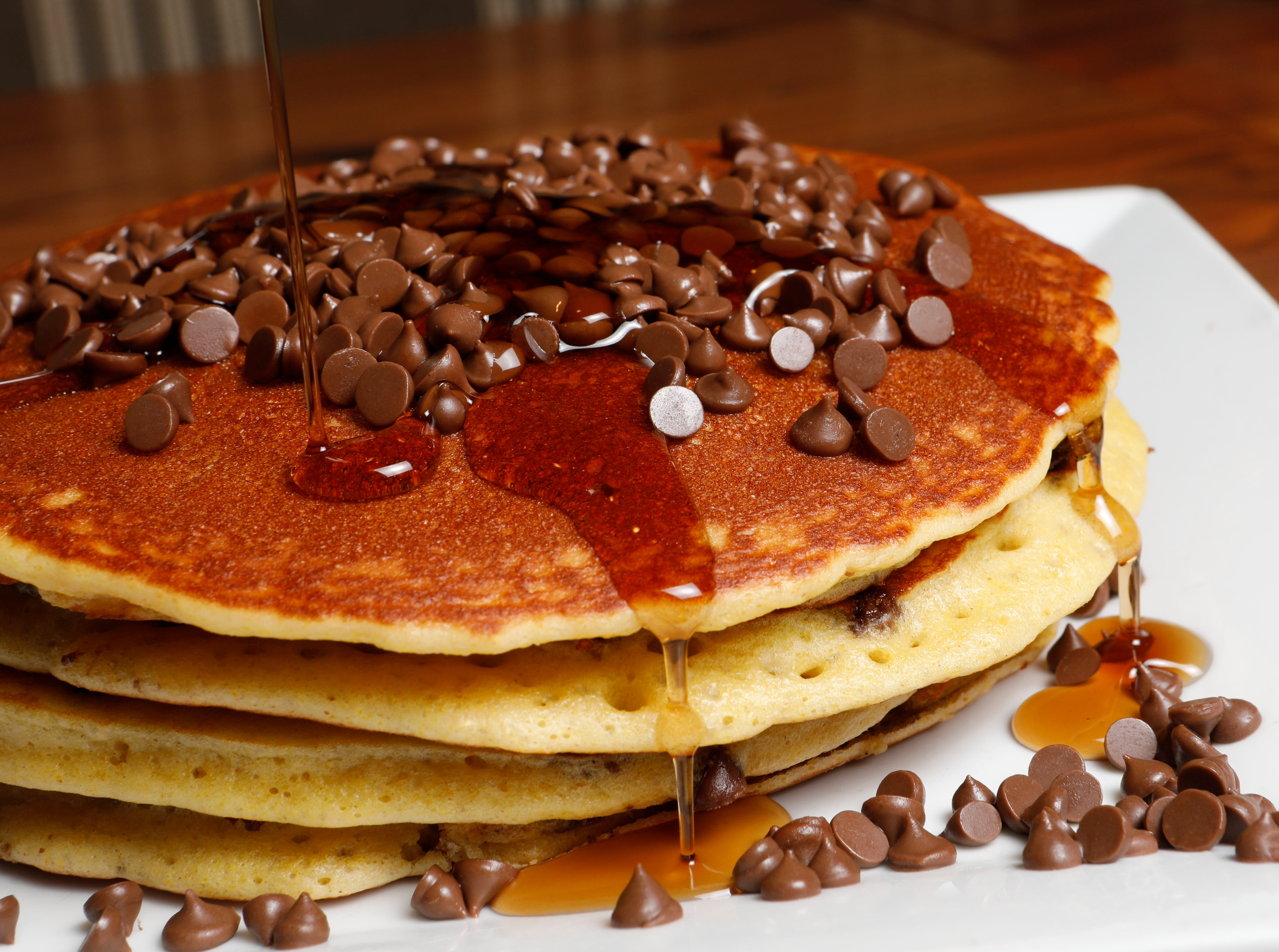 The Chocolate Chip stack pancake made at the Mount Kisco Diner on Dec. 14, 2018.