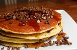 A look at pancakes at the Mount Kisco Diner.