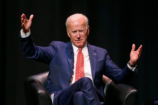 Former Vice President Joe Biden speaks at the University of Utah on Thursday, Dec. 13, 2018, in Salt Lake City.
