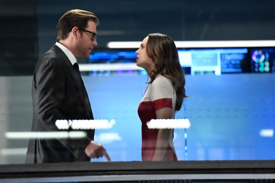 Eliza Dushku, right, appeared in three episodes during Season 1 of CBS' 'Bull,' which features Michael Weatherly as the title character, Dr. Jason Bull.
