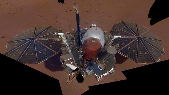 A selfie of the Mars Insight Lander.
