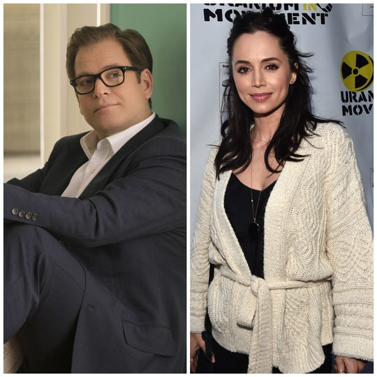 "Eliza Dushku, right, got a settlement after she complained that comments from ""Bull"" coworker Michael Weatherly, left, made her uncomfortable. She was set to become a series regular, but was written off of the show."