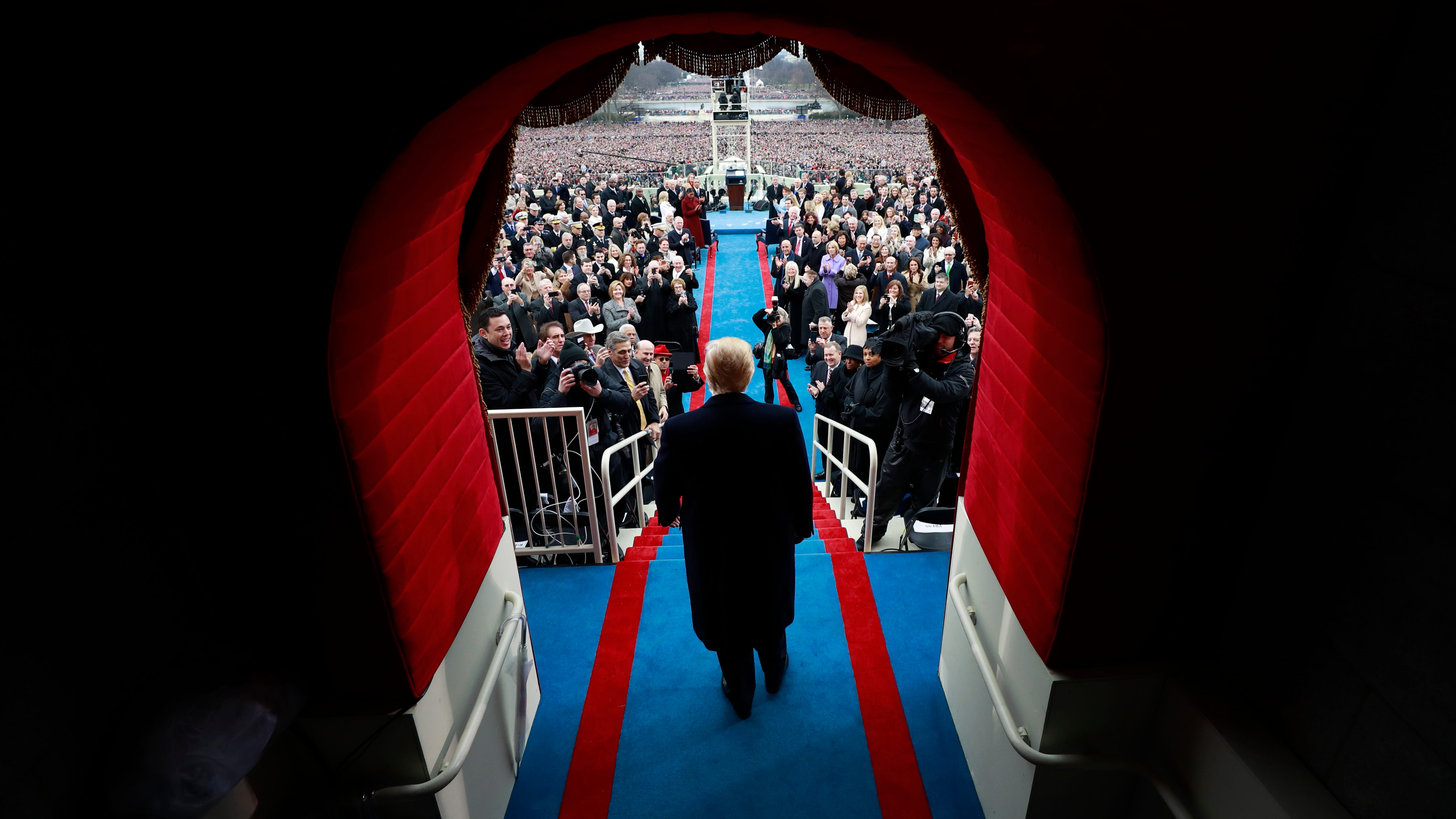 NYTING JANUARY 20, 2017. WASHINGTON, D.C. President-elect Donald J. Trump arrive at the inauguration of Donald J. Trump at the United States Capitol on Friday. NYTCREDIT: Doug Mills/The New York Times (Via OlyDrop)