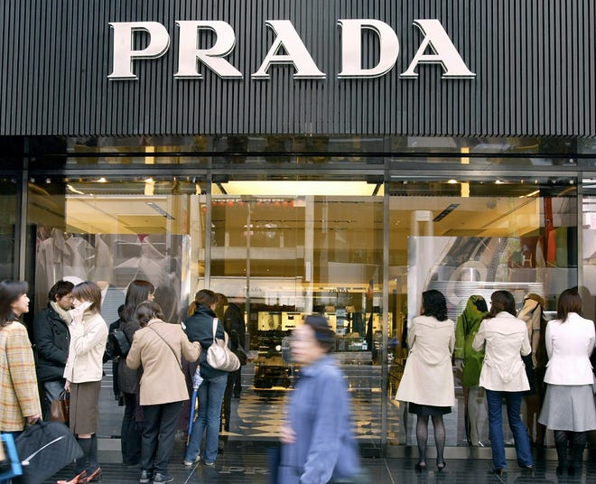 A Prada shop in Tokyo photographed in 2003.