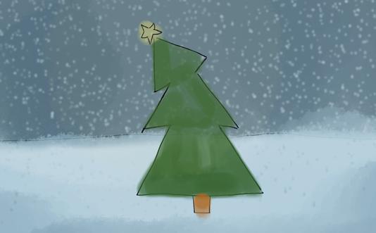 Blue Christmas Snow