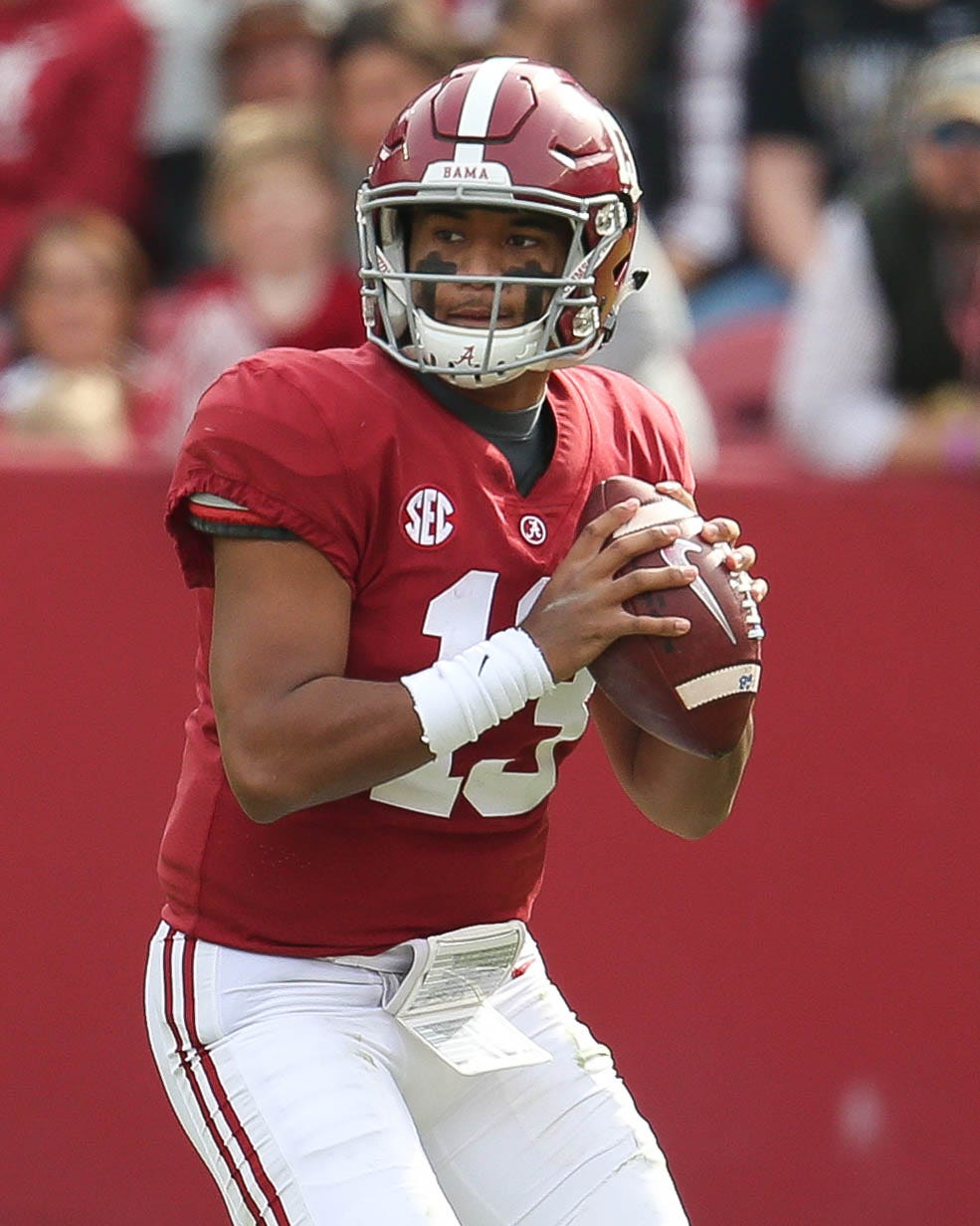 Tua Tagovailoa and Alabama will attempt to repeat as national champions.
