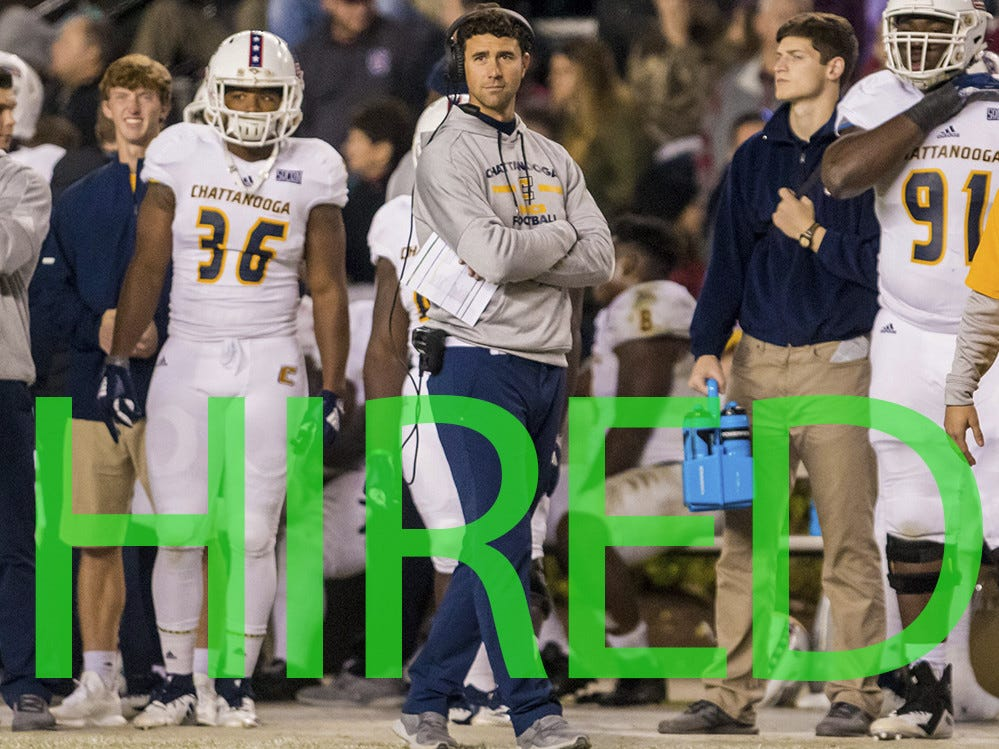 Tom Arth was hired by Akron. He spent the past two seasons as head coach at FCS Chattanooga and before that was head coach of D-III John Carroll.