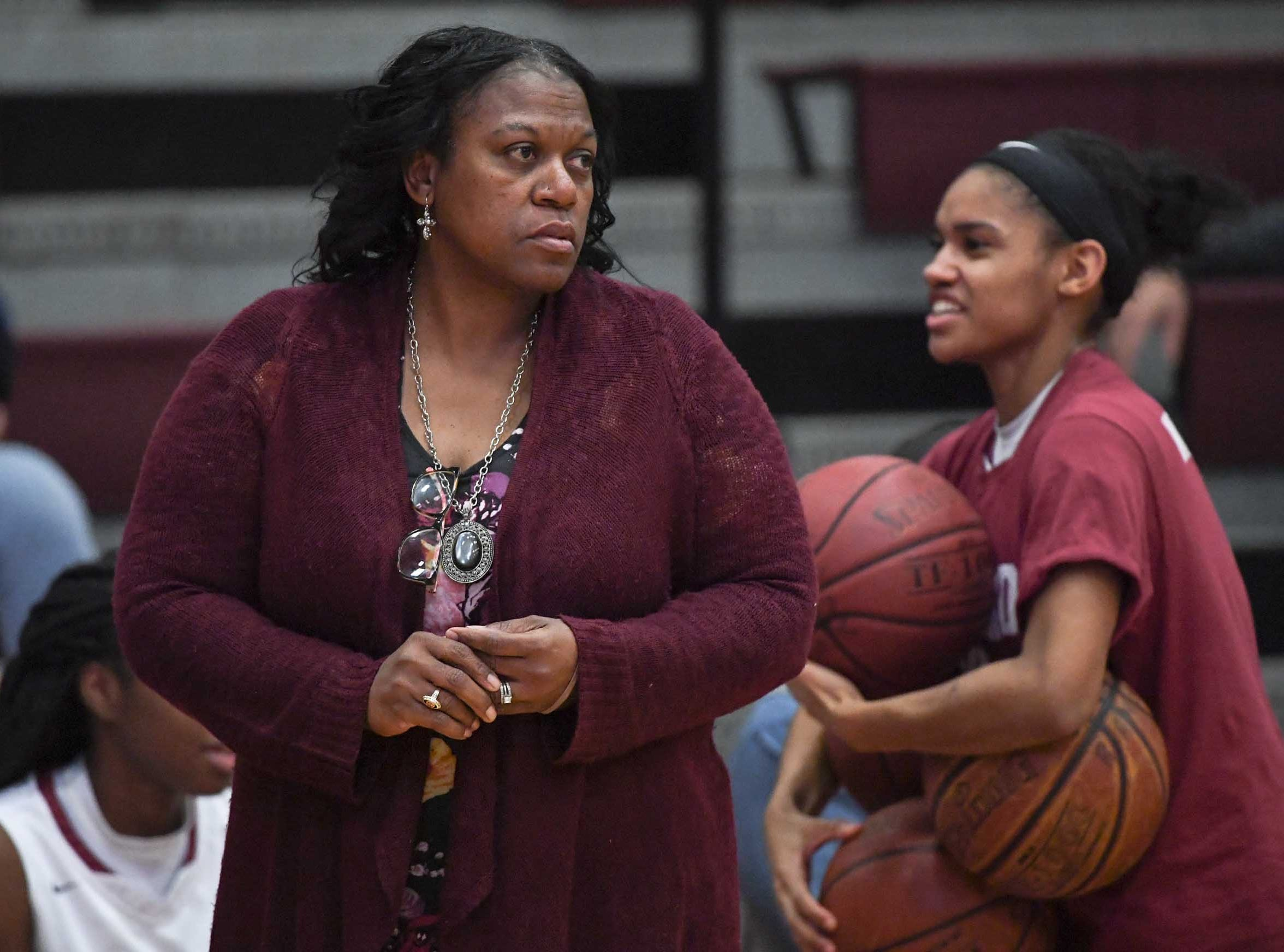 Westside High School Jackie Roberts before the game with Easley.