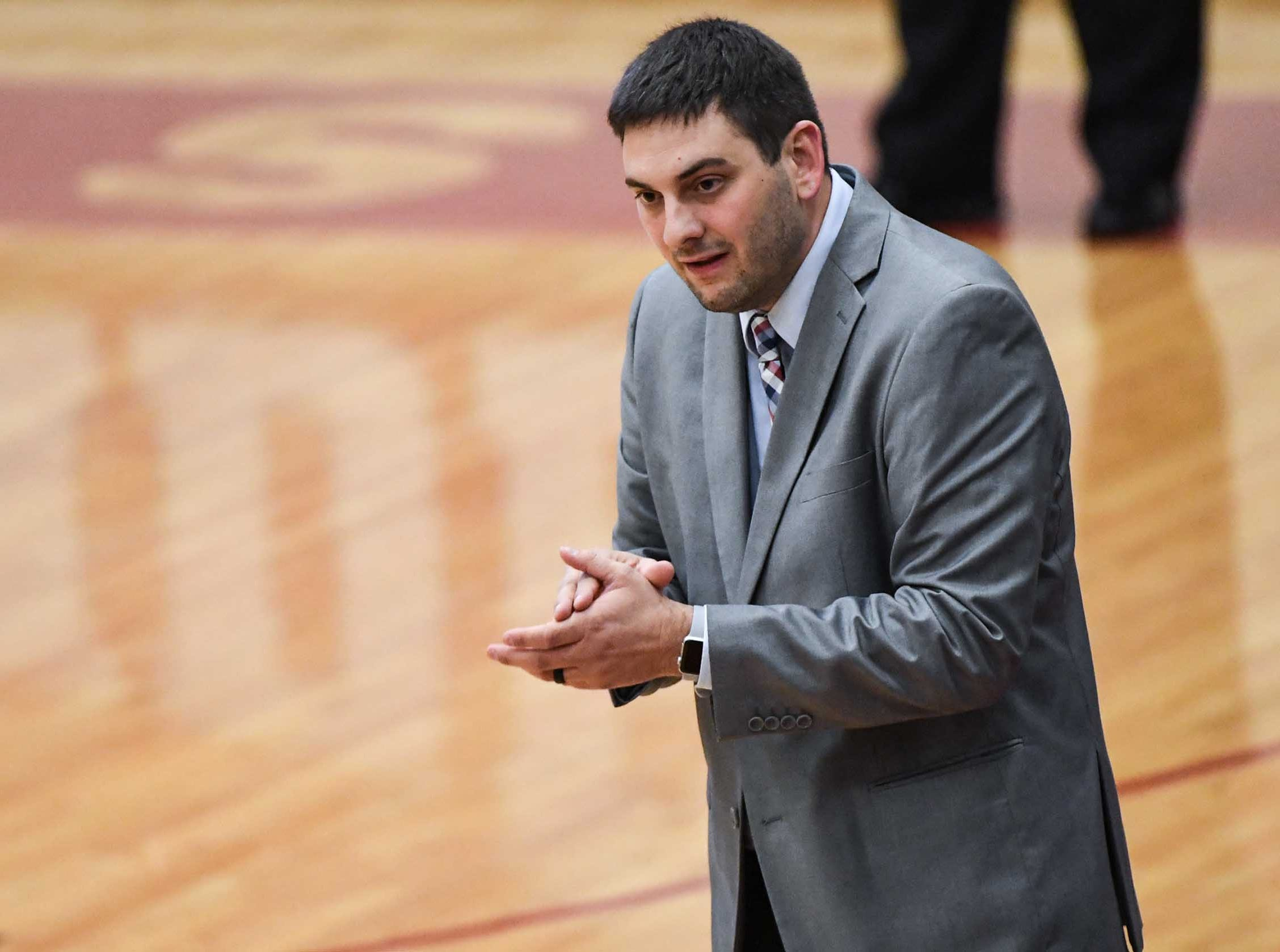 Westside High School head coach Nick Agnello during the first quarter at Westside High School in Anderson on Friday.