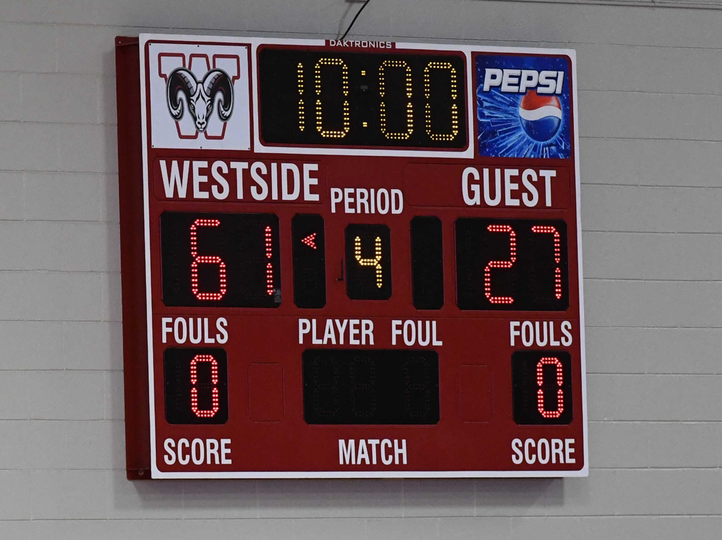 Westside High School girls beat Easley 61-27.