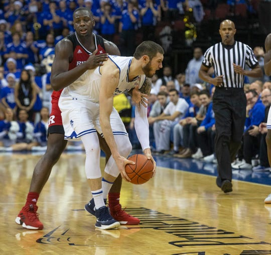 Rutgers Mens Basketball vs Seton Hall at the Prudential Center in Newark, NJ on December 15, 2018.
