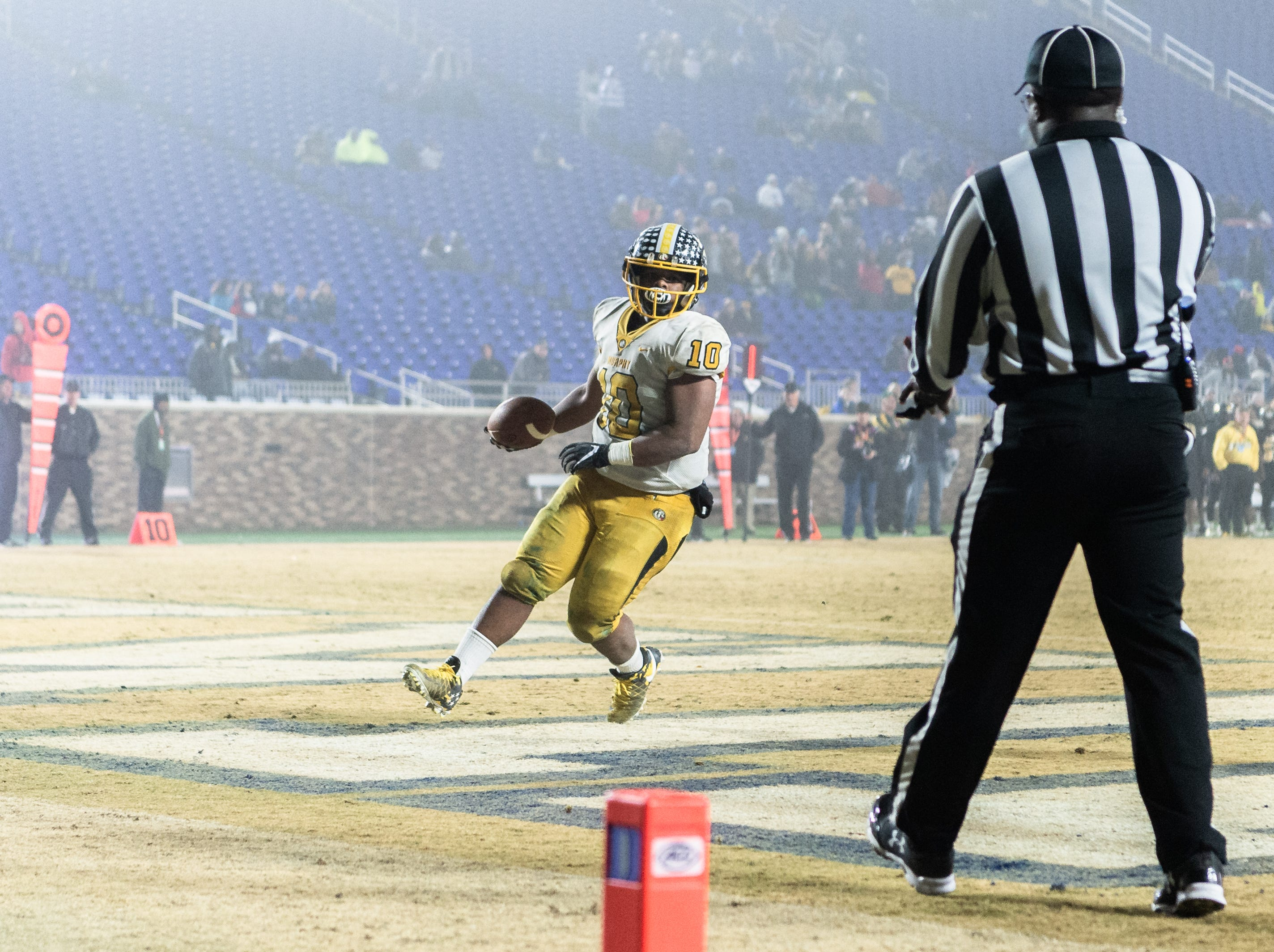 Murphy High School (12-1) and Pamlico County High School (13-1) took to the field at Wallace Wade Stadium at Duke University in Durham for their 1A state title game Dec. 15, 2018.