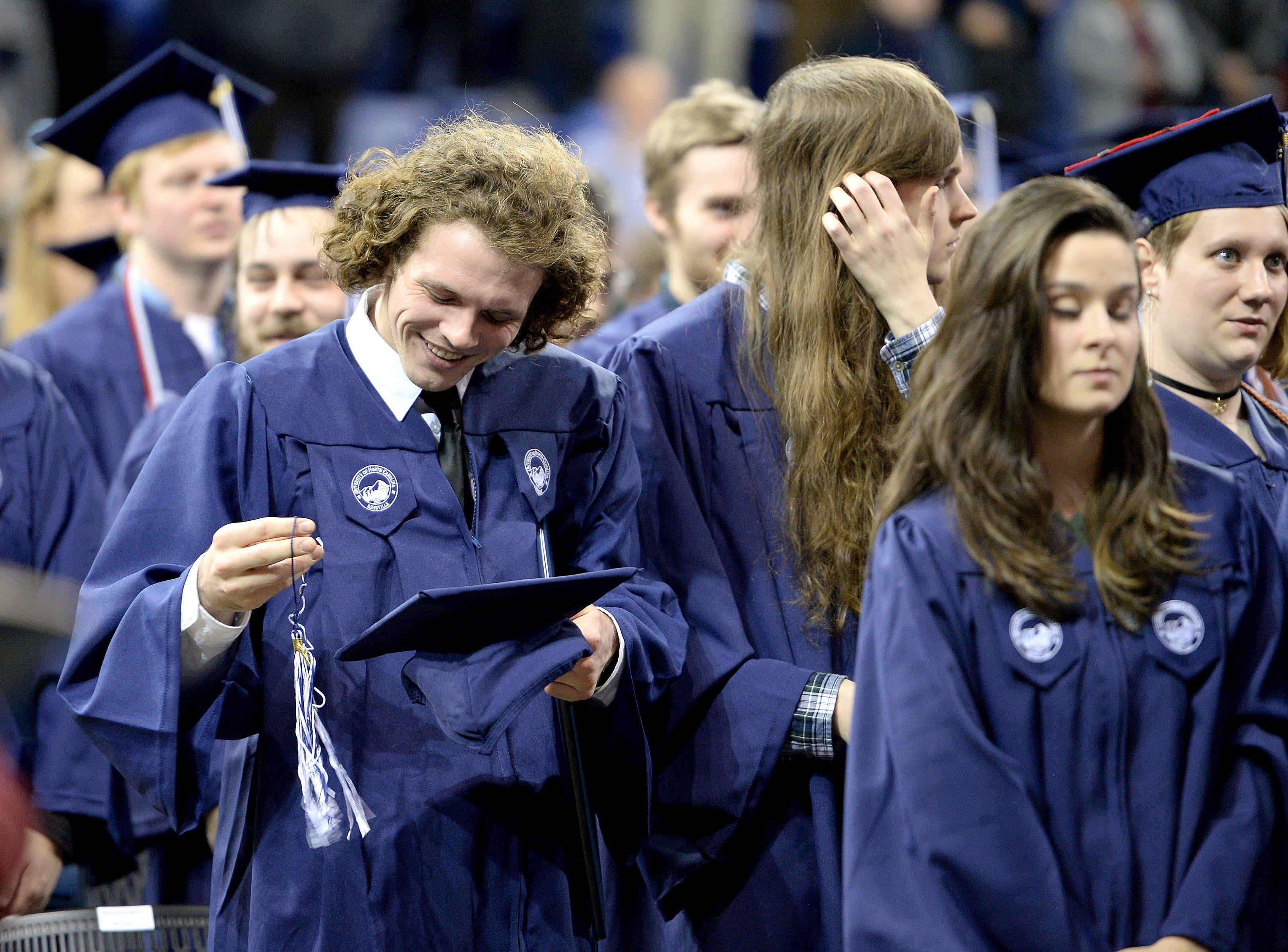 UNC Asheville held their winter commencements graduating more than 200 students at Kimmel Arena on Dec. 14, 2018.
