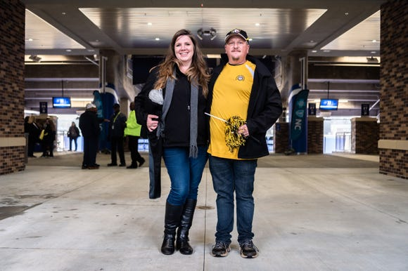 Carissa Cornwell and her husband, Clayton Cornwell traveled to Duke University's Wallace Wade Stadium for Murphy High School's state title game against Pamlico County Dec. 15, 2018, supporting their sons Hunter and Kaleb who are players on the team. The two of them were donned in the same outfits they wear to each Murphy football game.