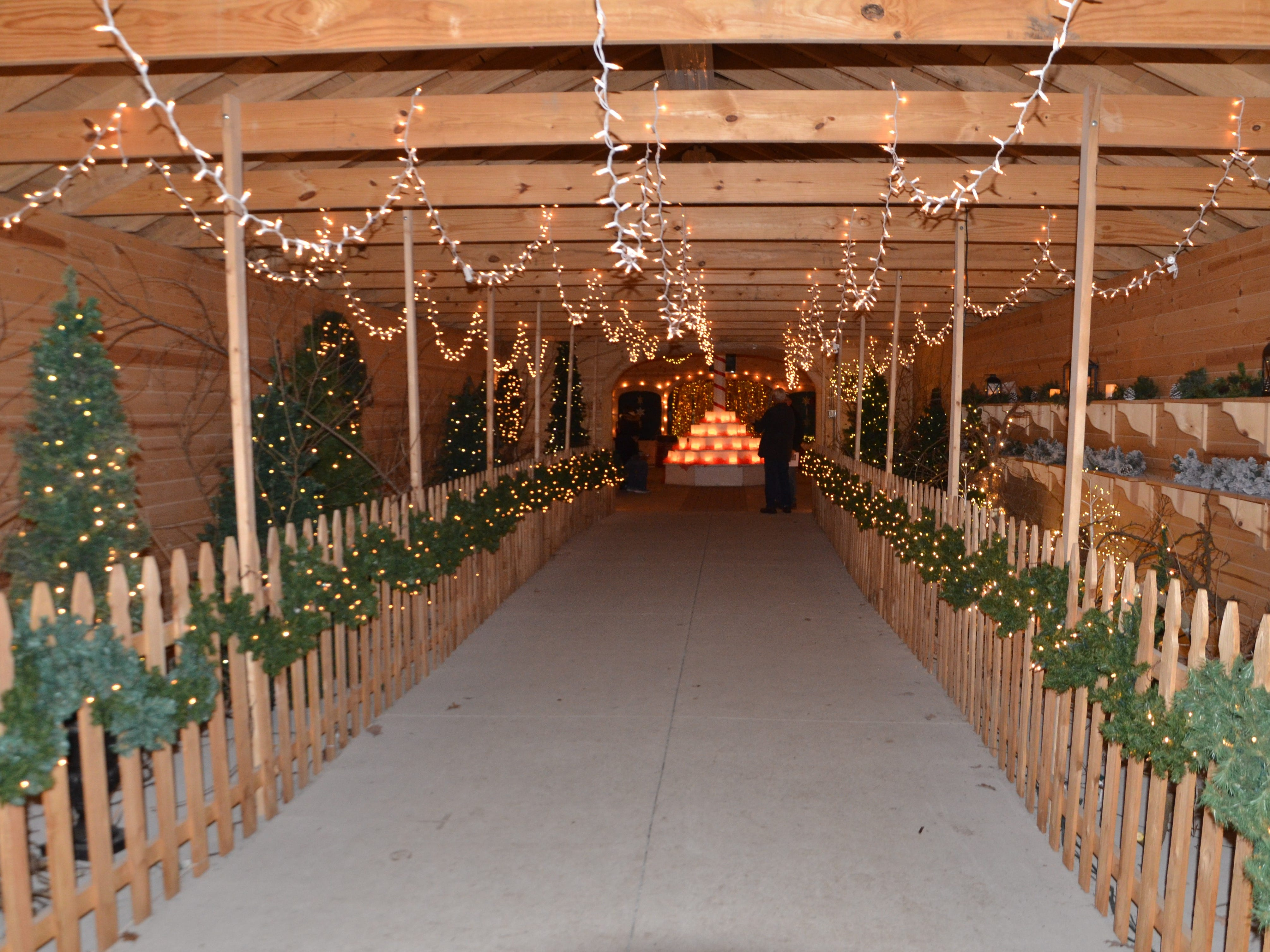 The Floral Hall at the Calhoun County Fairgrounds in Marshall during the Merry Mile.
