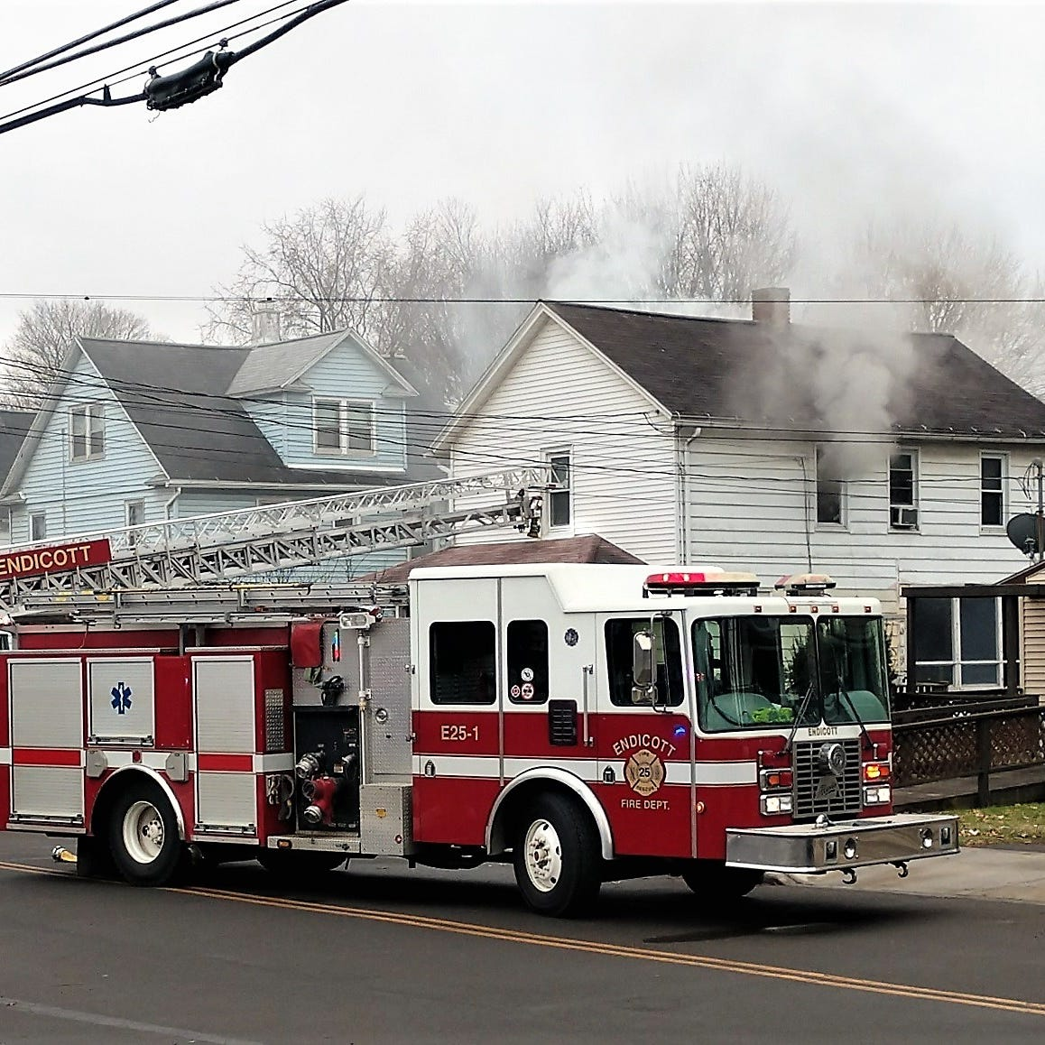 Nobody hurt in Saturday Endicott house fire