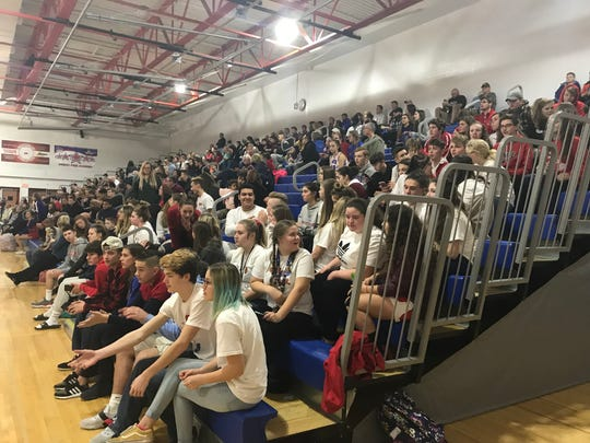 The stands at Owego were filled up for Friday's STAC game against Johnson City. The Indians won, 69-61.