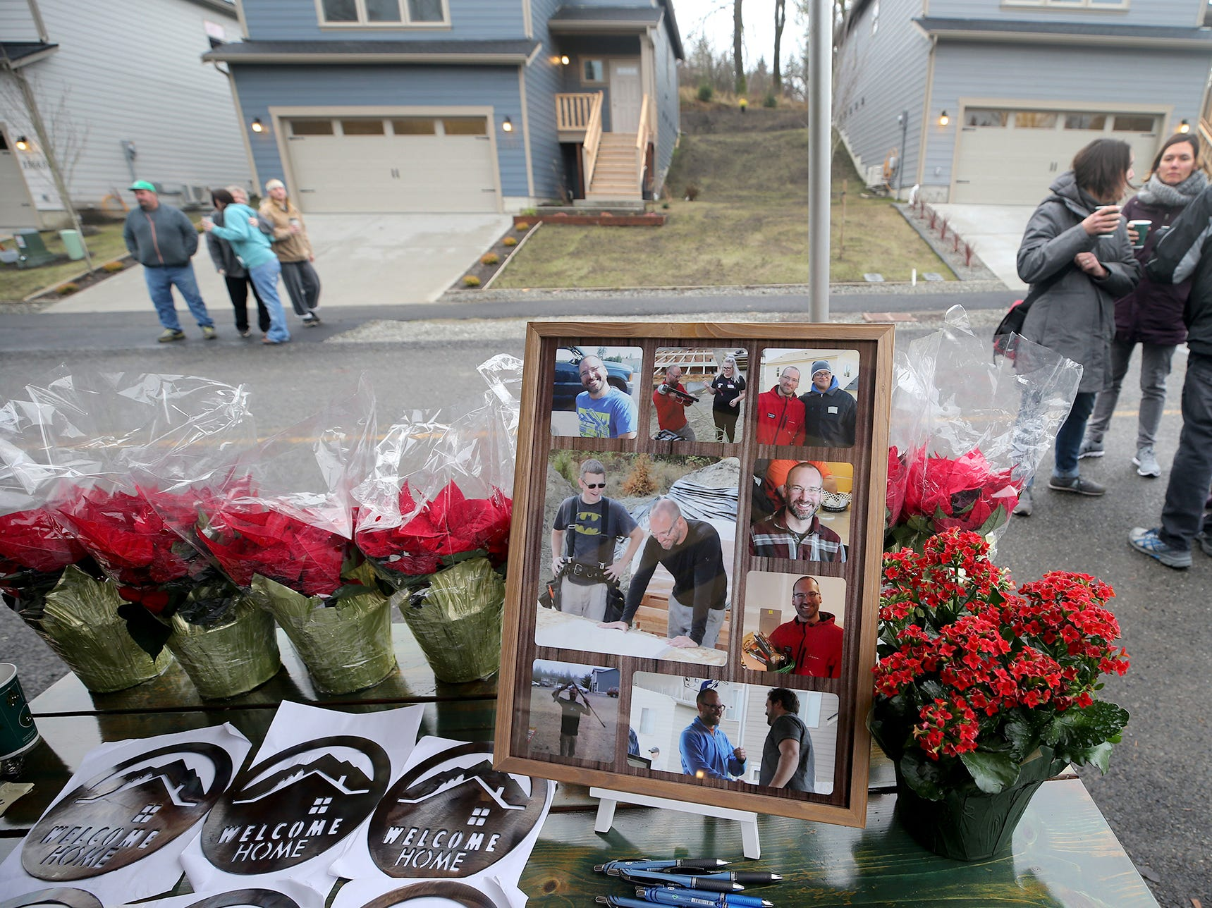 A memorial for Michael Porter who was the construction superintendent  that tragically passed away last week at the Kingston Housing Kitsap grand opening.