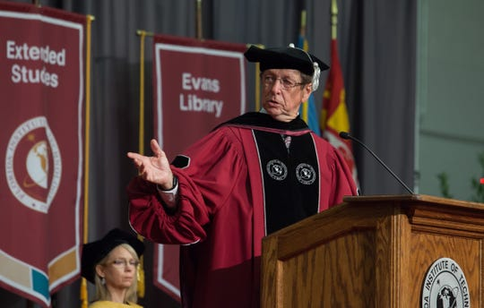 """Florida Tech President Dwayne McCay spoke about the university's alumni and its ability to produce """"job-ready"""" graduates who make their mark on their chosen field."""