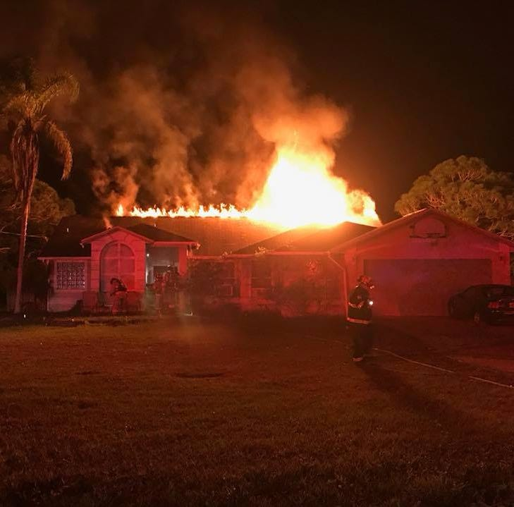 Firefighters respond after Malabar house fire