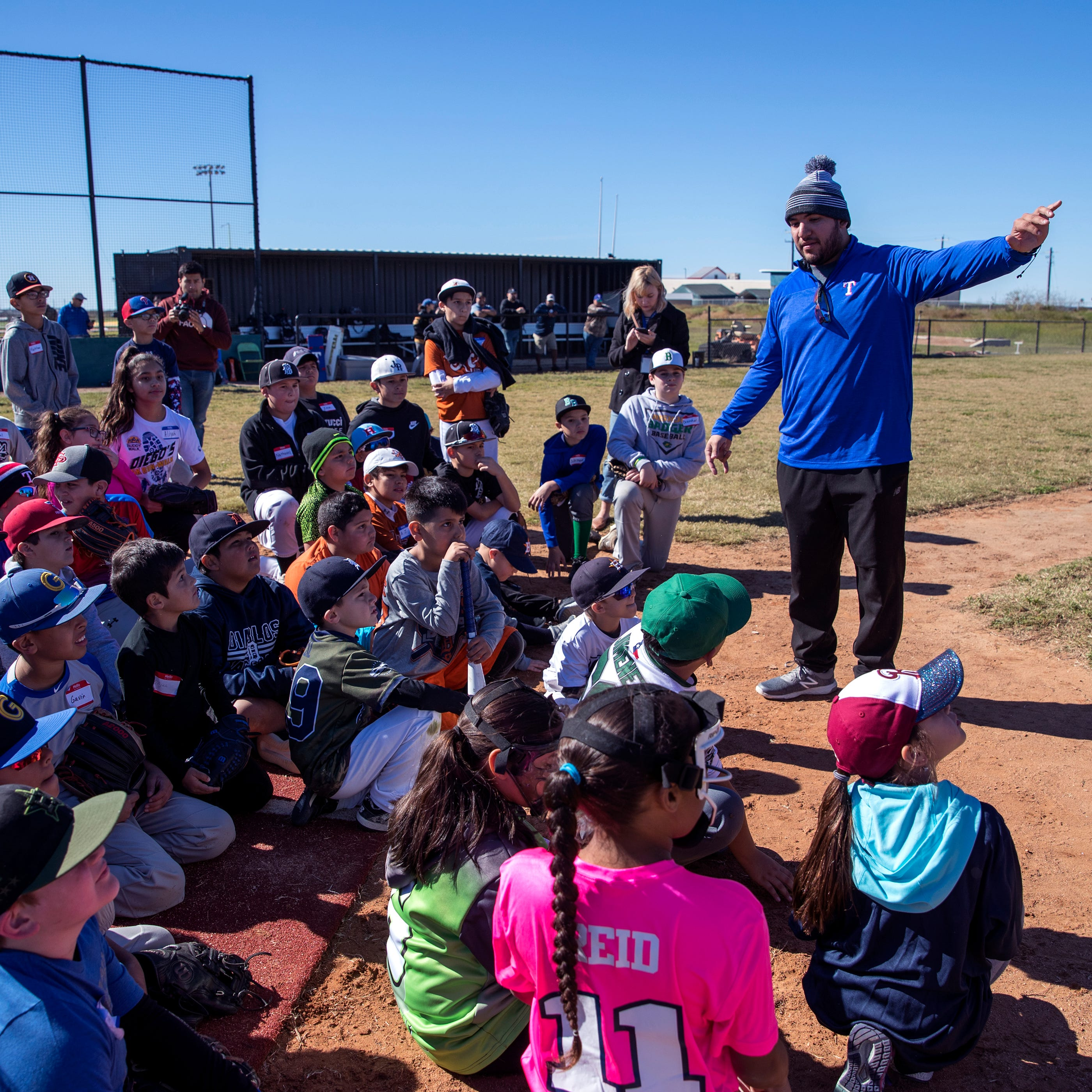 Jose Trevino's annual toy drive helps teach baseball and what it means to give
