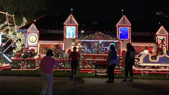 Mr. Bill's Wonderland features a choir singing Christmas carols, a Christmas train and more. You can find it on 3242 Hampton Road.