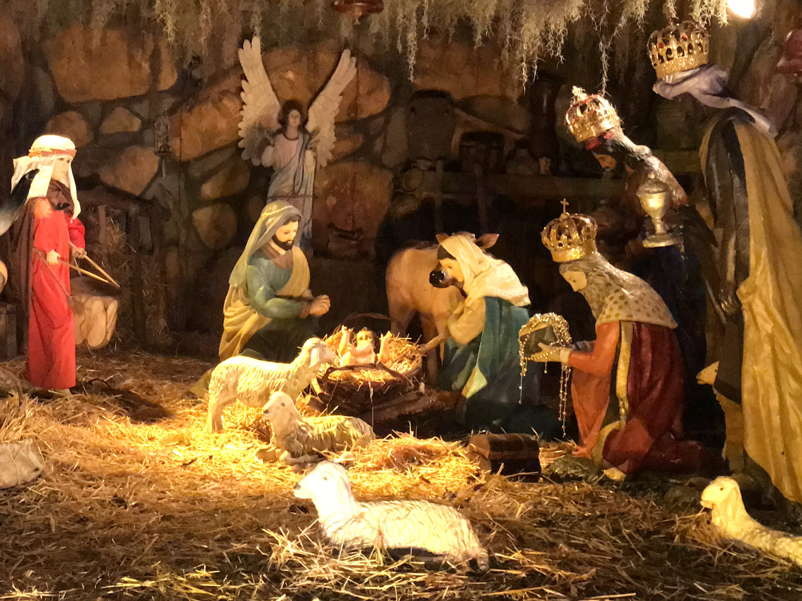 Check out a life-size Nativity scene on 4826 Willowbrook Drive.