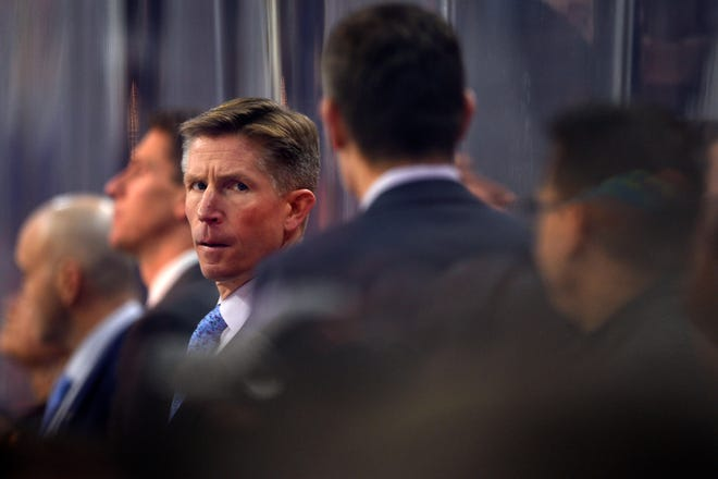 Dave Hakstol was fired midway through his fourth season. He coached the third-most games in Flyers franchise history.
