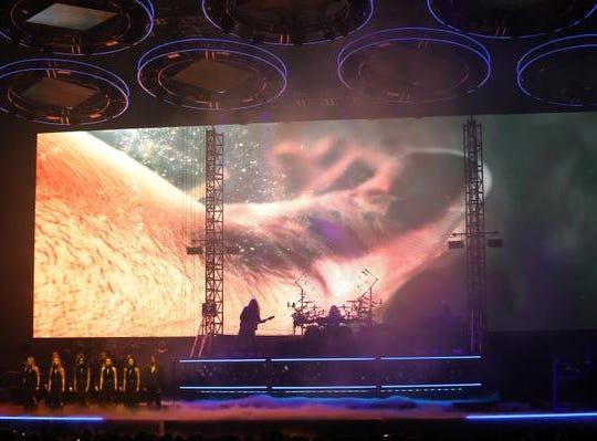 Trans-Siberian Orchestra performs at US Bank Arena, Friday,  Dec. 14,2018.