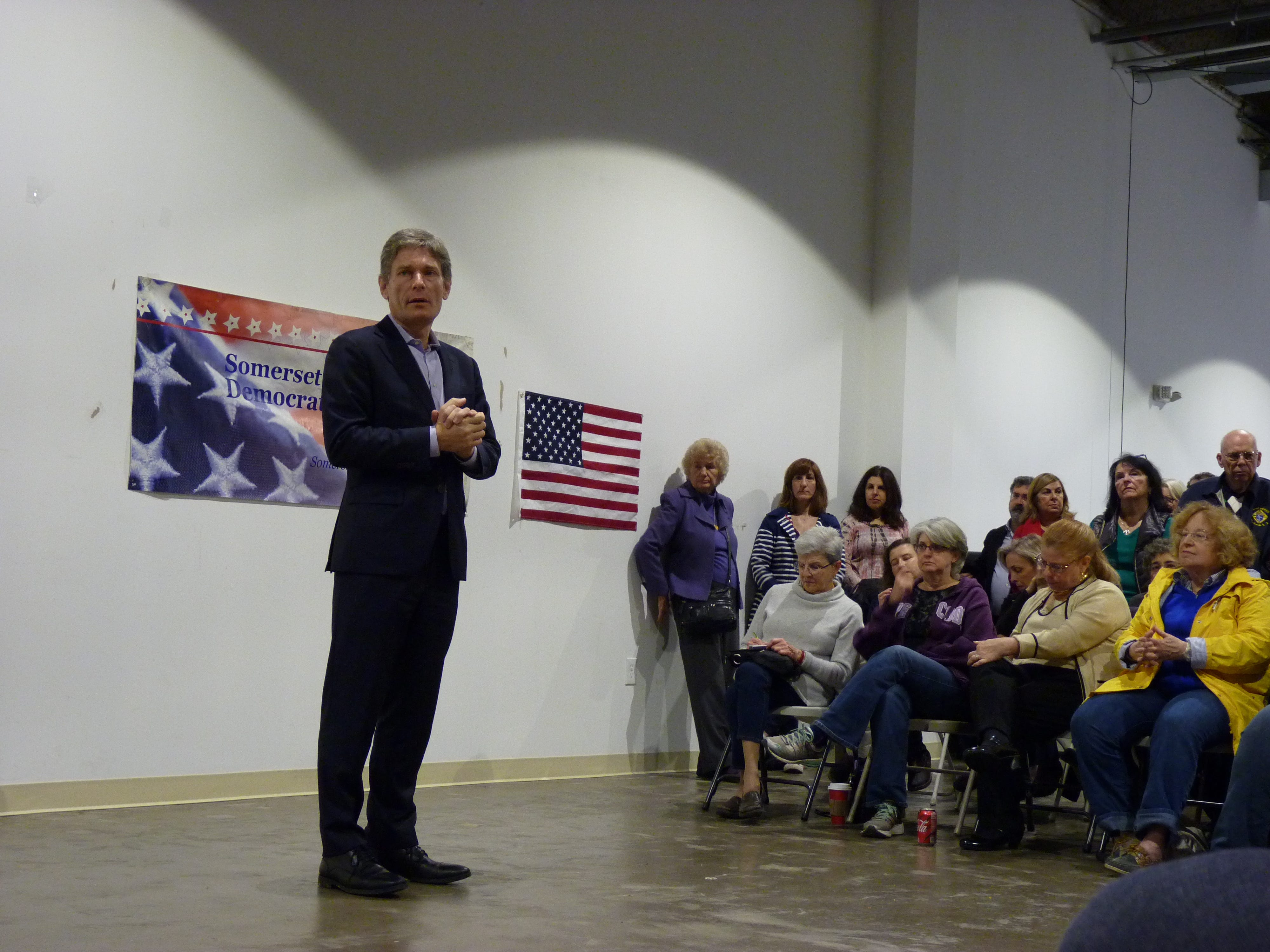 Congressman-elect Tom Malinowski held a town hall on Saturday, Dec. 15 in Somerville to speak to his constituents on issues regarding transportation, health care, immigration.