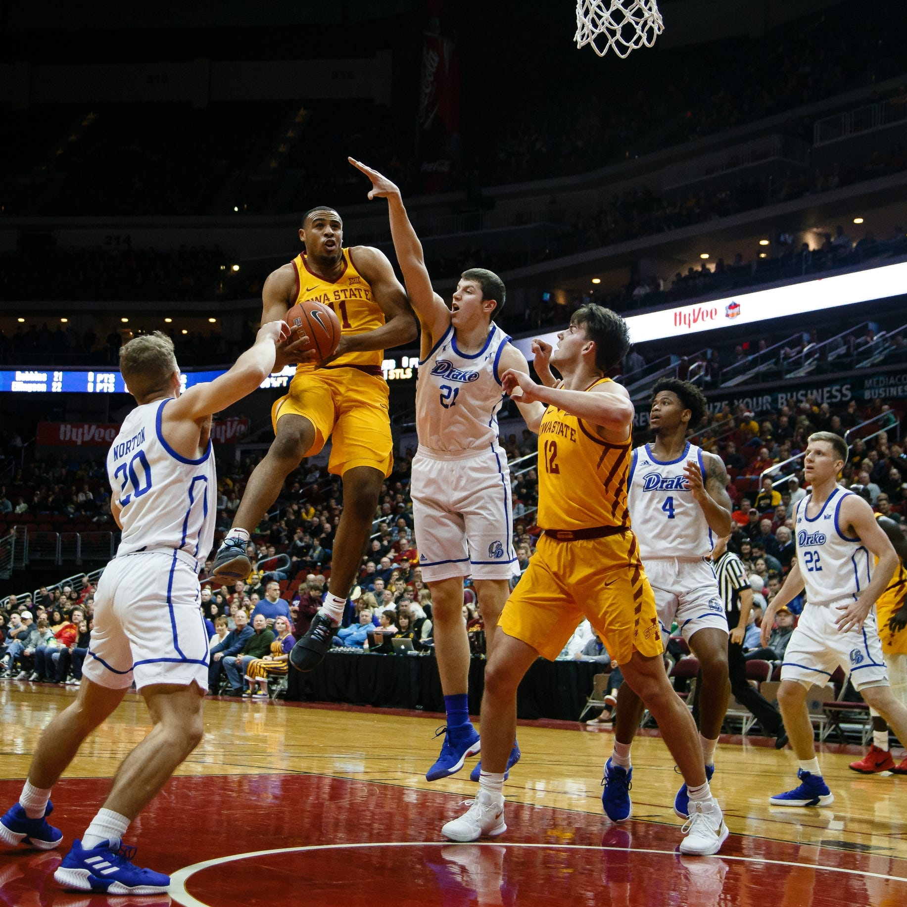 Iowa State's late outburst pushes Cyclones past Drake in Hy-Vee Classic