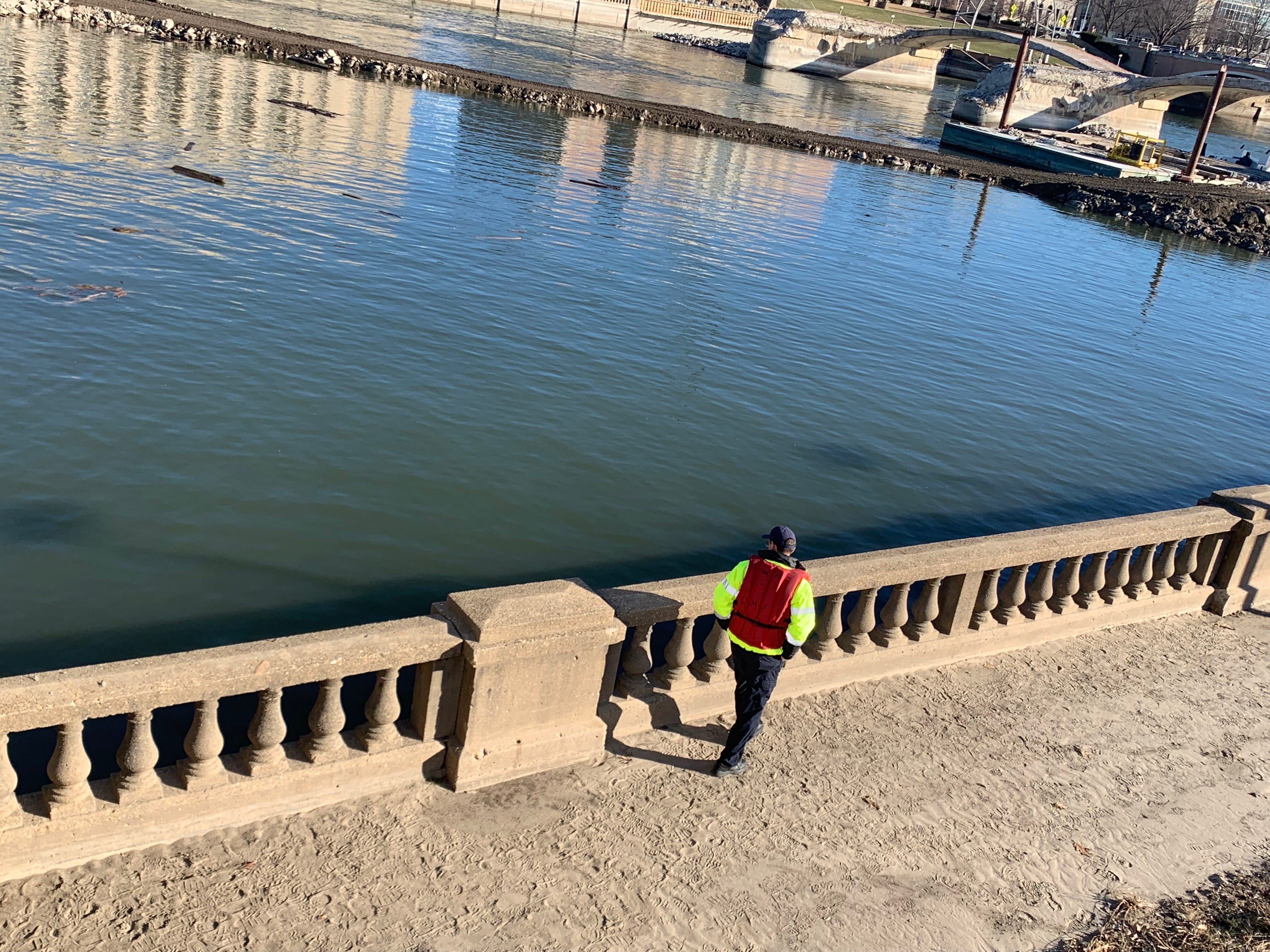 Authorities were called to downtown Des Moines for a water rescue Saturday afternoon near the Grand Avenue bridge.