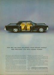 1963 Lincoln Continental ad