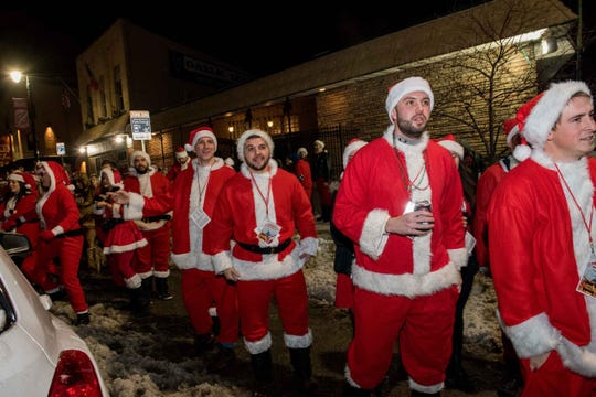 Costumed Santas were abundant at last year's Santarchy.
